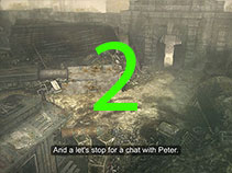 The last thing you should do before leaving the trainyard is to talk to Peter.