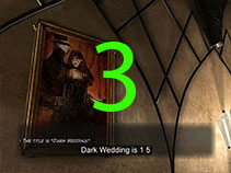 You can find the final part of the door code on the painting called 'Dark Wedding'.