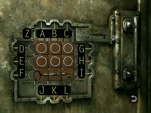 In this puzzle you have to move the key to the top, so that it is lined up with the key slot. You can then insert it.