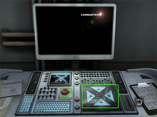 To deploy a robot click the round red button to the center right of the console. Then once it is deployed click on on the control pad at the bottom right of the console.